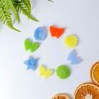 """Набор наполнителей """"Цветы и бабочки-1"""" парафиновый, 26штук, разноцветные, в упаковке"""