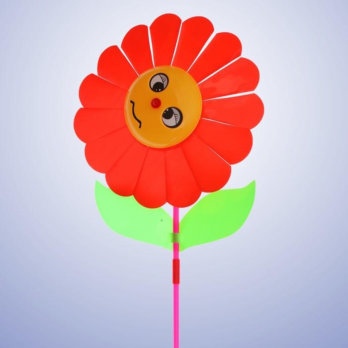 Ветерок «Цветок», цвет красный