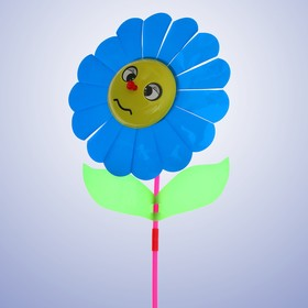 Ветерок «Цветок», цвет синий