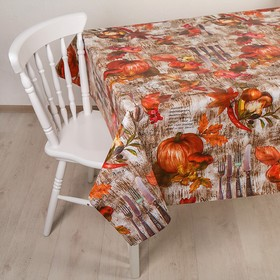 "The oilcloth a dining room on a nonwoven basis, width 137 cm ""Autumn"", roll of 30 meters"