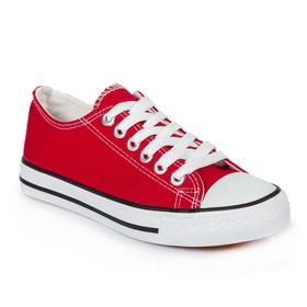 Кеды женские MINAKU, шнурки, красный, р. 40 Ош