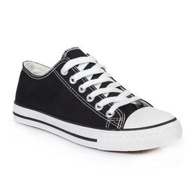 Кеды мужские, шнурки, черный, р. 45 Ош
