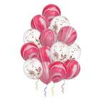 """Букет из шаров 12"""" «Яркость цвета», латекс, розовое конфетти, набор 14 шт. - фото 308469675"""