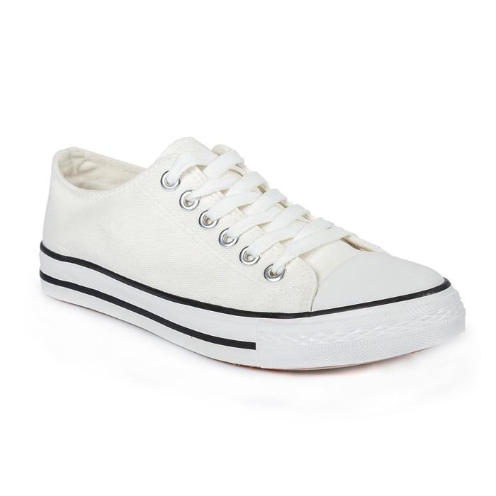 Кеды мужские, шнурки, белый, р. 43