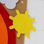 "Игрушка из фетра с липучками ""Изучаем цвета и счет"", лист основа + 25 элементов - фото 1041496"
