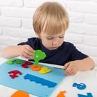 "Игрушка из фетра с липучками ""Изучаем цвета и счет"", лист основа + 25 элементов - фото 1041499"