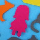"Коврик из фетра с липучками ""Русские сказки"", лист основа + 16 элементов - фото 105532899"