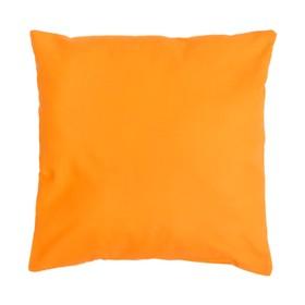 Подушка декоративная 40*40 цв. оранжевый,100% хл, поплин Ош