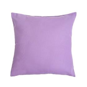 Подушка декоративная 40*40 цв. сиреневый,100% хл, поплин Ош