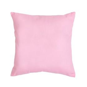 Подушка декоративная 40*40 цв. розовый,100% хл, поплин Ош