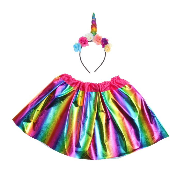 Карнавальный набор «Единорог», 2 предмета: ободок, юбка, 3-5 лет