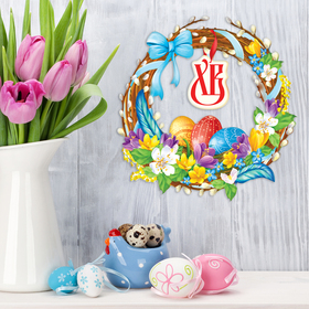 """Easter Wreath to decorate the """"Wreath of willow"""", 25.7 x 26.5 cm"""