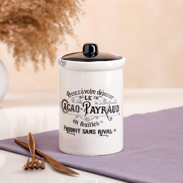 """Бочонок для сыпучих """"Le Cacao Payraud"""", 0.6 л, микс"""