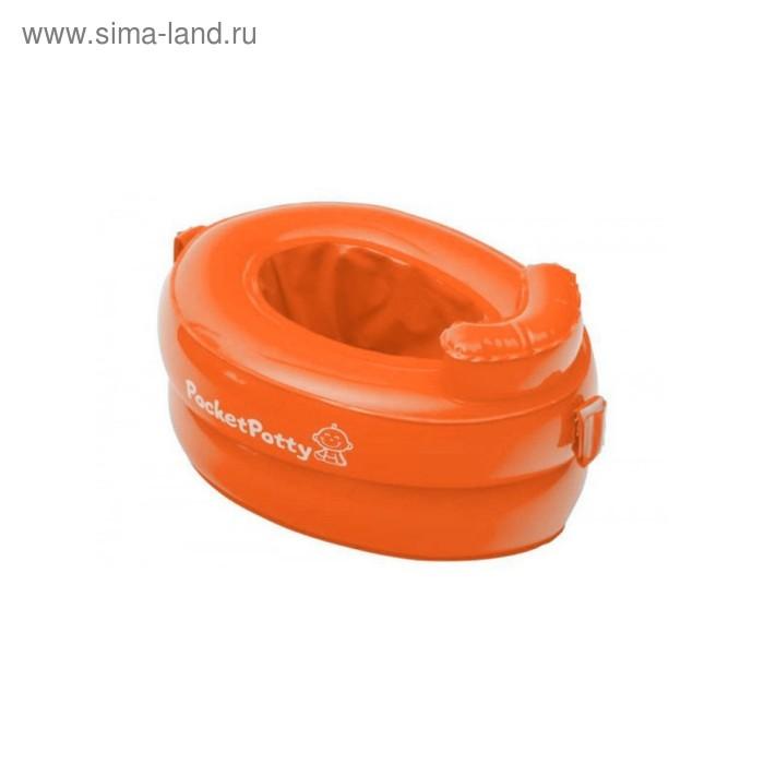 Горшок надувной дорожный PocketPotty со сменными пакетами, цвет оранжевый ROXY-KIDS