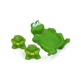Набор игрушек для купания «Лягушата», мыльница