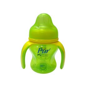 Поильник с ручками PUR, широкое горло, 150 мл, цвет МИКС