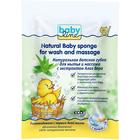 Губка детская натуральная для мытья и массажа с алоэ вера Babyline