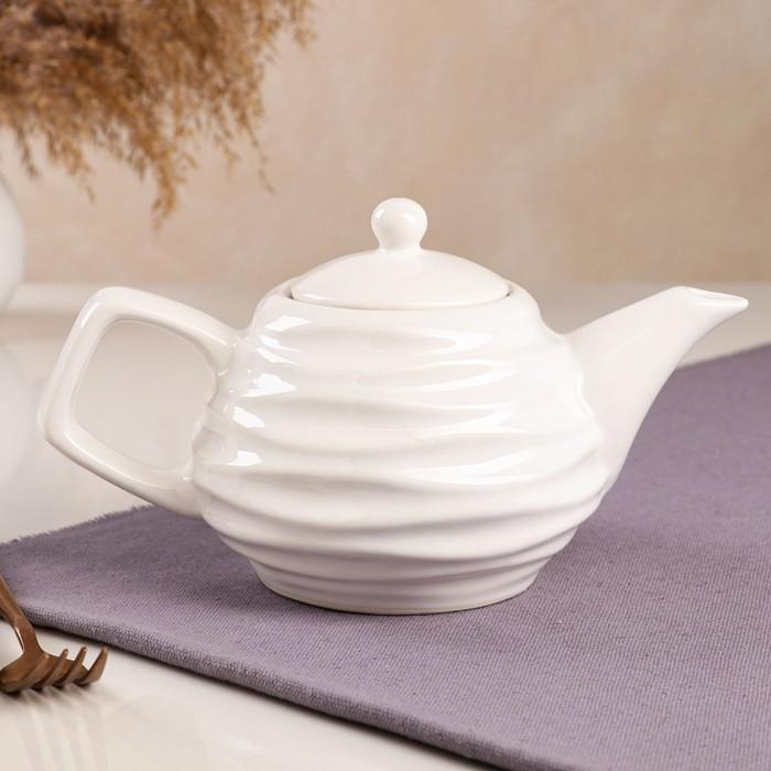 """Чайник для заварки """"Волна"""", белый, 0.8 л - фото 704006"""