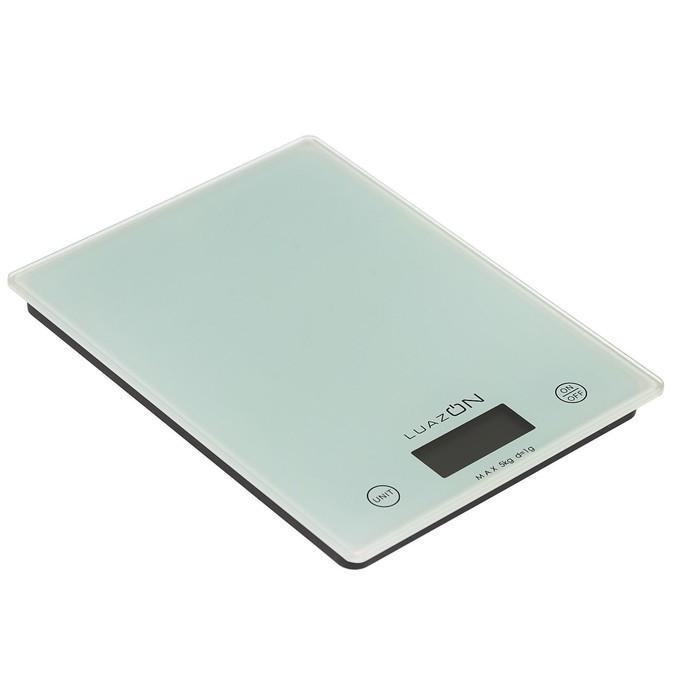Весы электронные кухонные LuazON LVK-702 до 5 кг, стекло, белые
