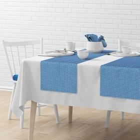 Комплект дорожек на стол «Марси», размер 40 х 150 см - 4 шт, синий