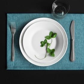 Комплект салфеток «Ибица», размер 28 × 43 см - 6 шт, голубой