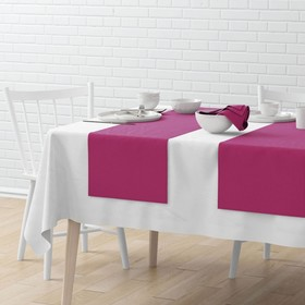Комплект дорожек на стол «Билли», размер 40 х 150 см - 4 шт, фуксия