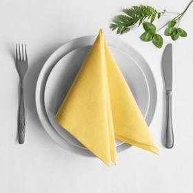 Комплект салфеток «Билли», размер 38 х 38 см - 4 шт, жёлтый