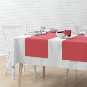 Комплект дорожек на стол «Билли», размер 40 х 150 см - 4 шт, малиновый