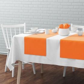 Комплект дорожек на стол «Билли», размер 40 х 150 см - 4 шт, оранжевый