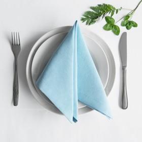 Комплект салфеток «Билли», размер 38 х 38 см - 4 шт, голубой