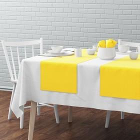 Комплект дорожек на стол «Билли», размер 40 х 150 см - 4 шт, жёлтый