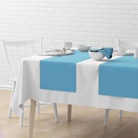 Комплект дорожек на стол «Билли», размер 40 х 150 см - 4 шт, голубой