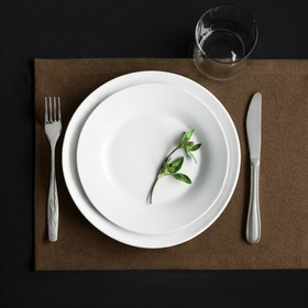 Комплект салфеток «Ибица», размер 28 × 43 см - 6 шт, шоколадный