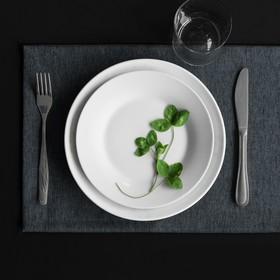Комплект салфеток «Ибица», размер 28 × 43 см - 6 шт, тёмно-серый