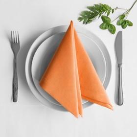 Комплект салфеток «Билли», размер 38 х 38 см - 4 шт, оранжевый