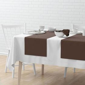 Комплект дорожек на стол «Билли», размер 40 х 150 см - 4 шт, коричневый