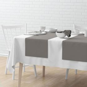 Комплект дорожек на стол «Билли», размер 40 х 150 см - 4 шт, серый