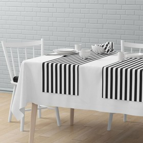 Комплект дорожек на стол «Кембридж», размер 40 х 150 см - 4 шт, мокрый асфальт