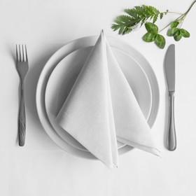 Комплект салфеток «Билли», размер 38 х 38 см - 4 шт, белый