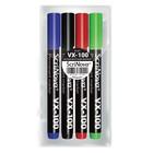 Набор маркеров перманентных 4цв ScriNova 100, круглый наконечник, толщина 1-3мм 71000-4