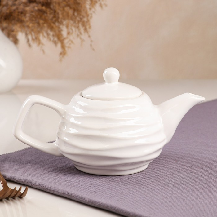"""Чайник для заварки """"Волна"""", белый, 0.5 л - фото 702030"""
