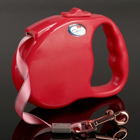 Рулетка Dogness Fashion Range, лента 5 м, до 42 кг, красная