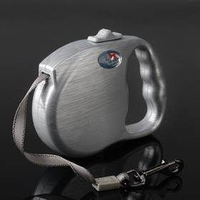 Рулетка Dogness Fashion Range, расцветка металл, лента 5 м, до 42 кг