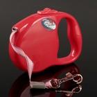 Рулетка Dogness Fashion Range, лента 3 м, до 12 кг, красная