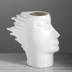 "Ваза настольная ""Афродита"", глянец, белая, 24 см, керамика - фото 1704266"