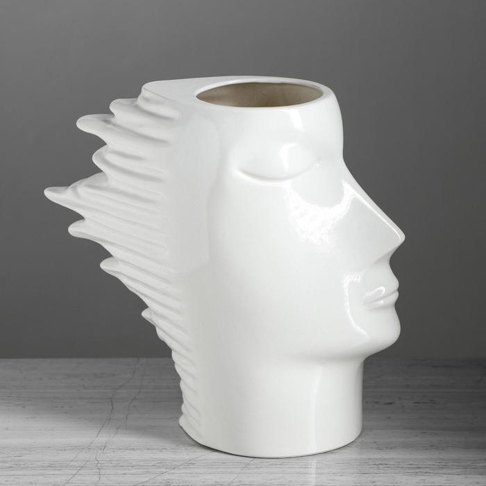 """Ваза настольная """"Афродита"""", глянец, белая, 24 см, керамика"""
