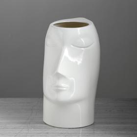 "Ваза настольная ""Афродита"", глянец, белая, 24 см, керамика - фото 1704267"