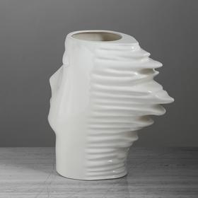 "Ваза настольная ""Афродита"", глянец, белая, 24 см, керамика - фото 1704268"