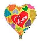 "Balloon foil heart 18"" ""Love heart"""