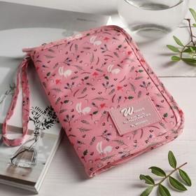 Кошелёк туристический, отдел на молнии, с ручкой, цвет розовый - фото 54798